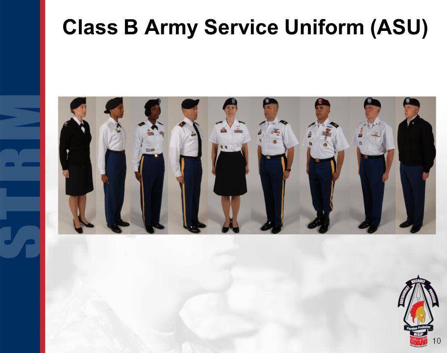 10 Class B Army Service Uniform (ASU)