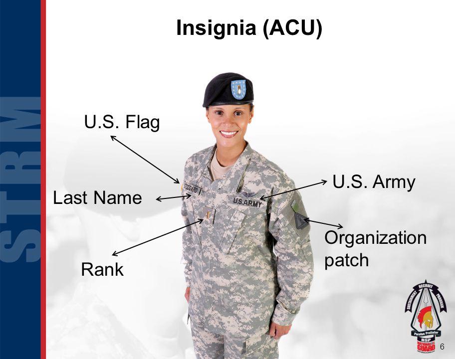 6 U.S. Flag U.S. Army Last Name Rank Organization patch Insignia (ACU)