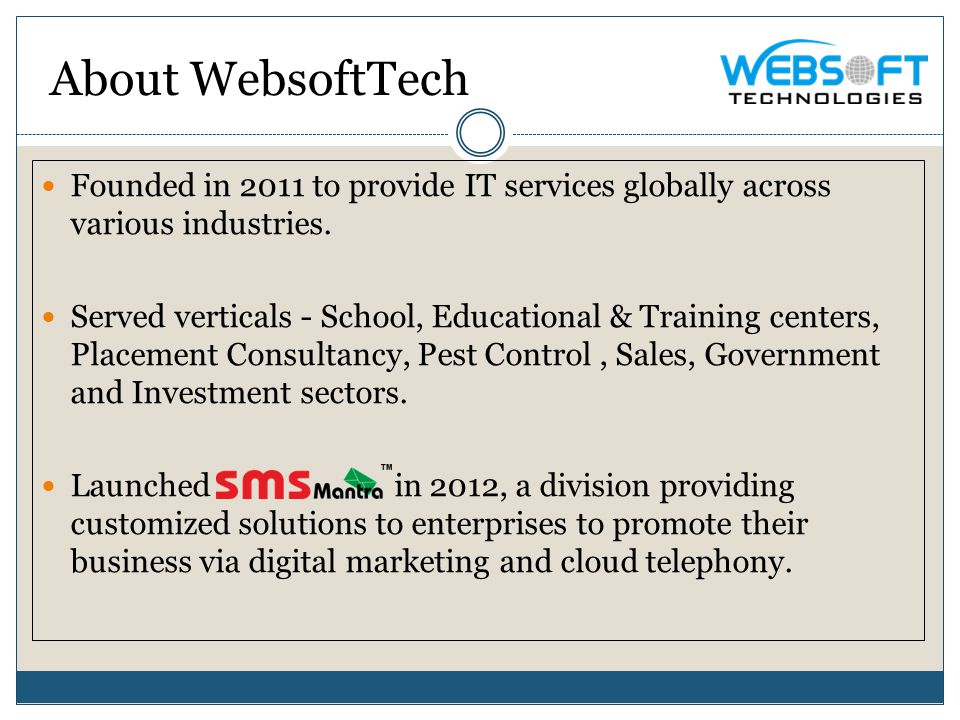 Founded in 2011 to provide IT services globally across various industries.