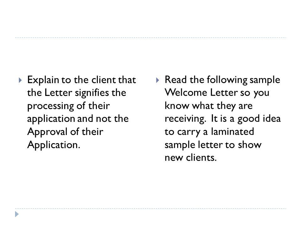 New Client Letters Kasare Annafora Co