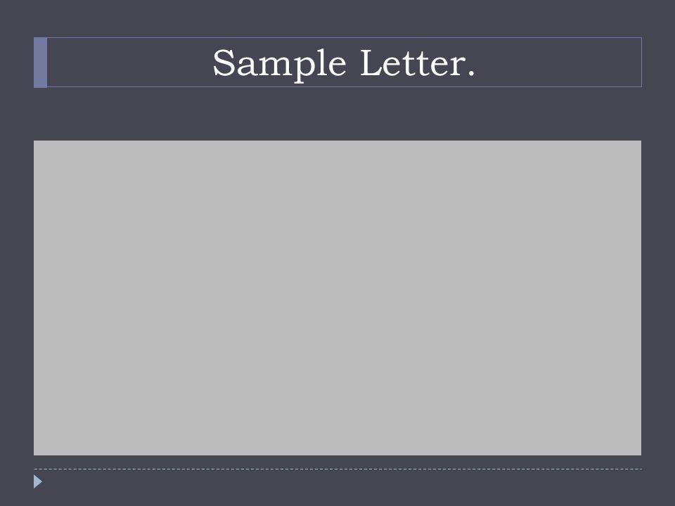 Sample Letter.