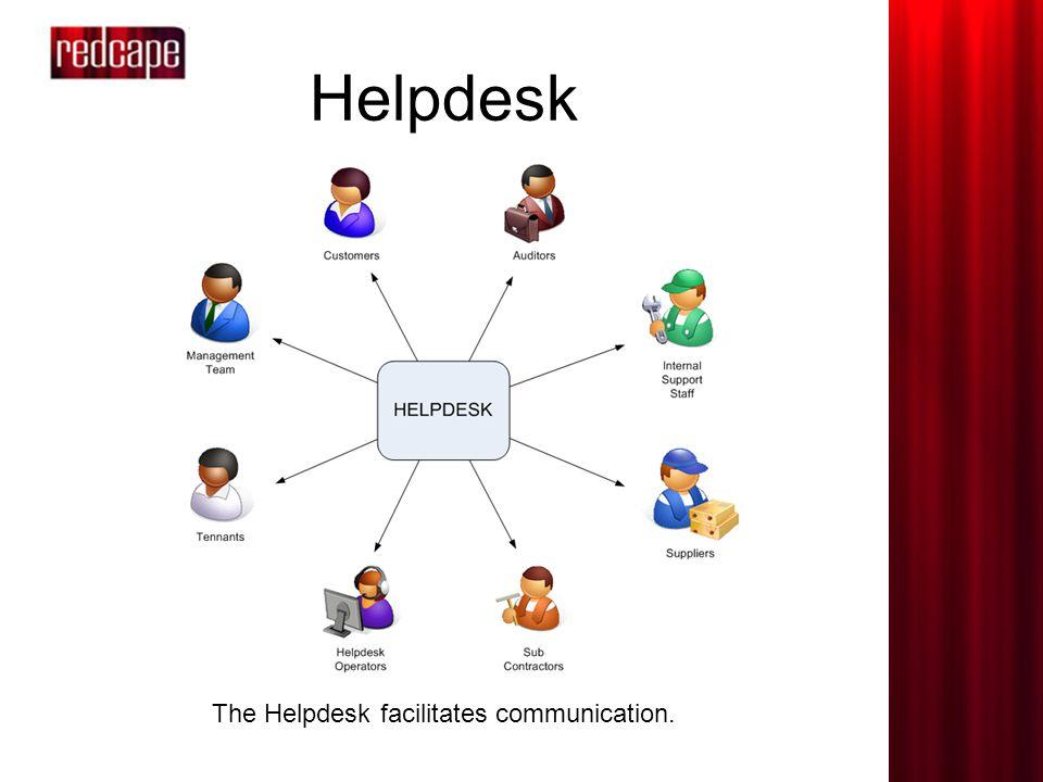 Helpdesk The Helpdesk facilitates communication.