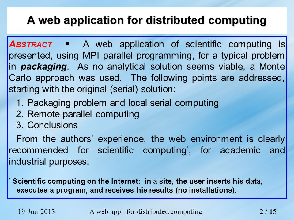 19-Jun-2013A web appl.