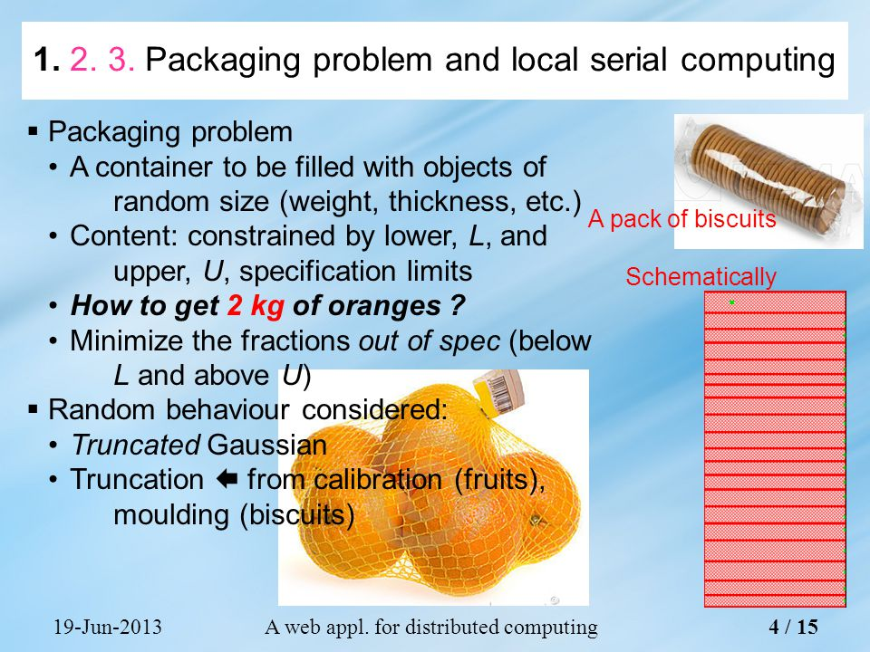 19-Jun-2013A web appl. for distributed computing A pack of biscuits Schematically 4 /