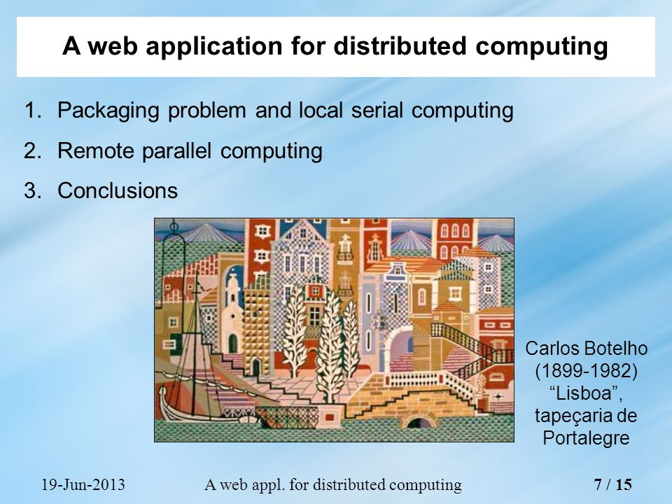 19-Jun-2013A web appl.for distributed computing 1.