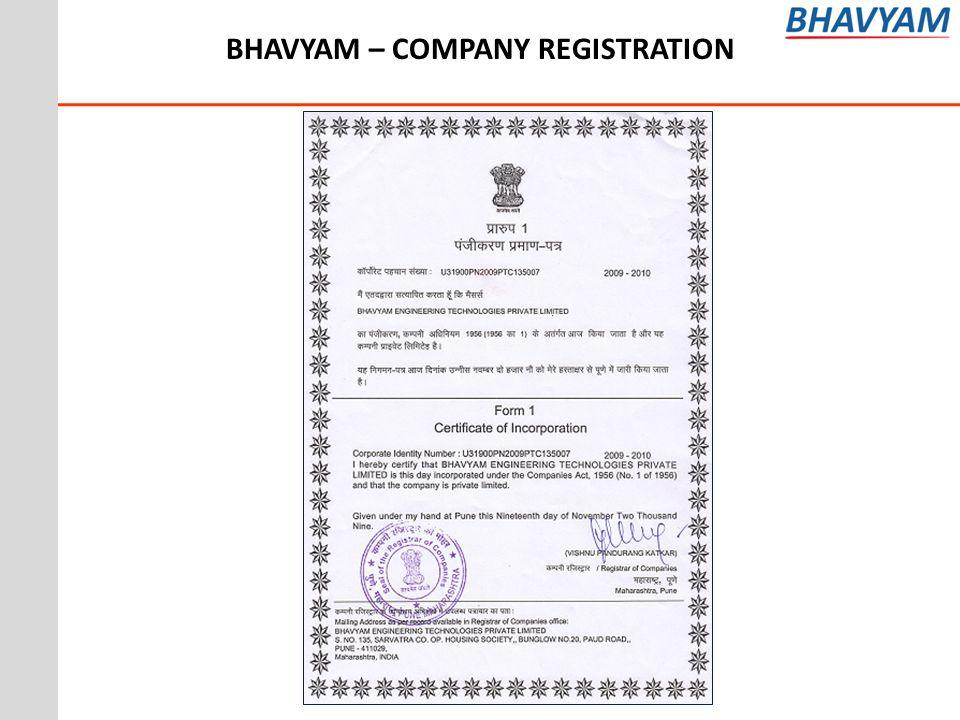BHAVYAM – COMPANY REGISTRATION