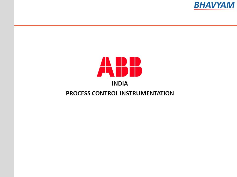 INDIA PROCESS CONTROL INSTRUMENTATION