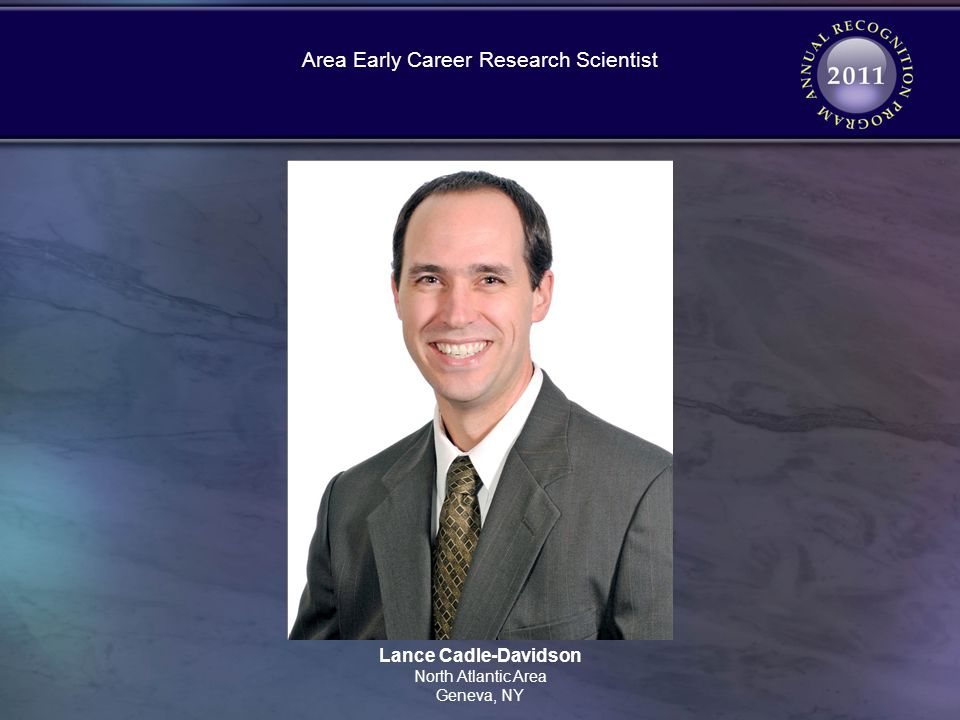 Lance Cadle-Davidson North Atlantic Area Geneva, NY Area Early Career Research Scientist