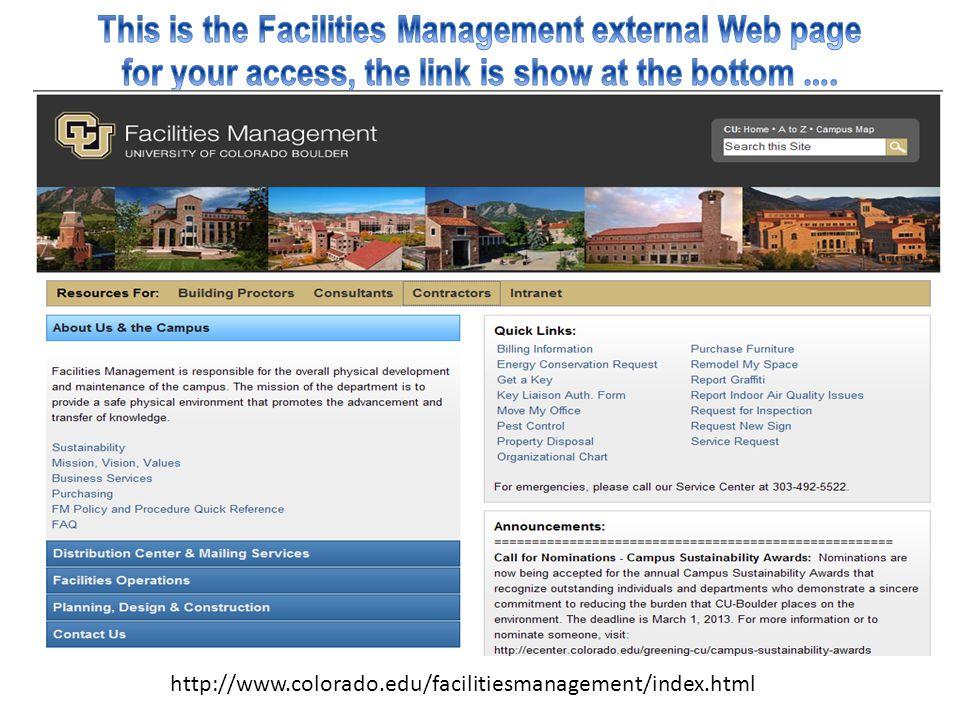 http://www.colorado.edu/facilitiesmanagement/index.html