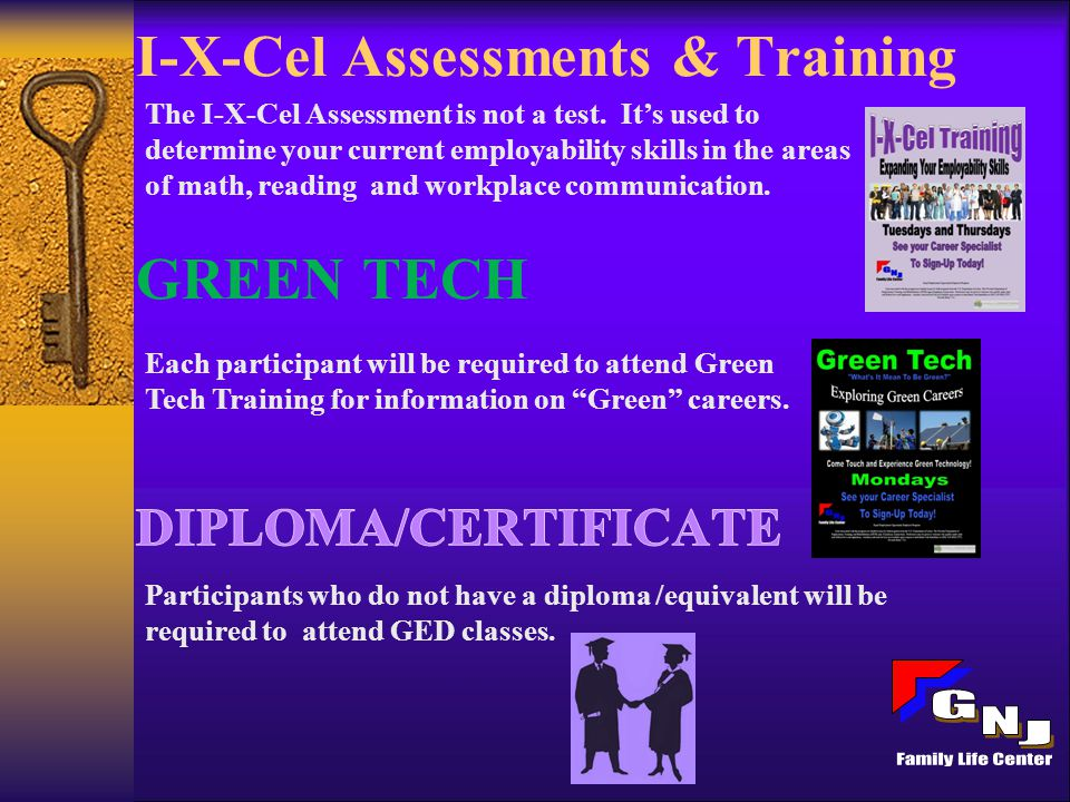I-X-Cel Assessments & Training The I-X-Cel Assessment is not a test.