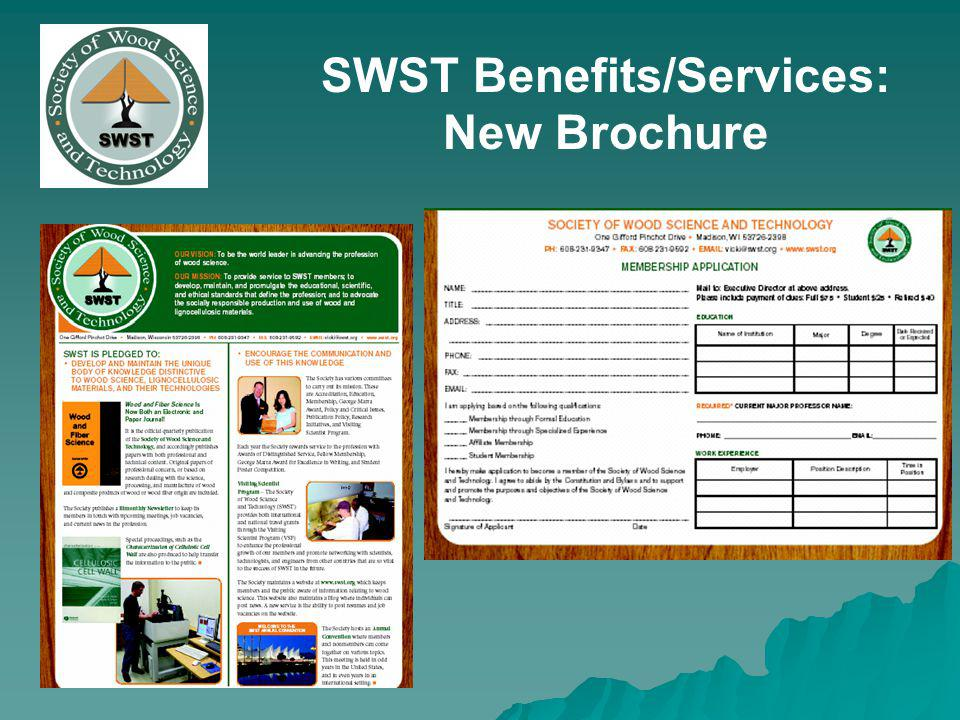 SWST Benefits/Services: New Brochure