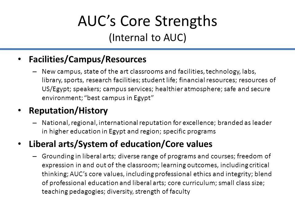 AUCs Opportunities