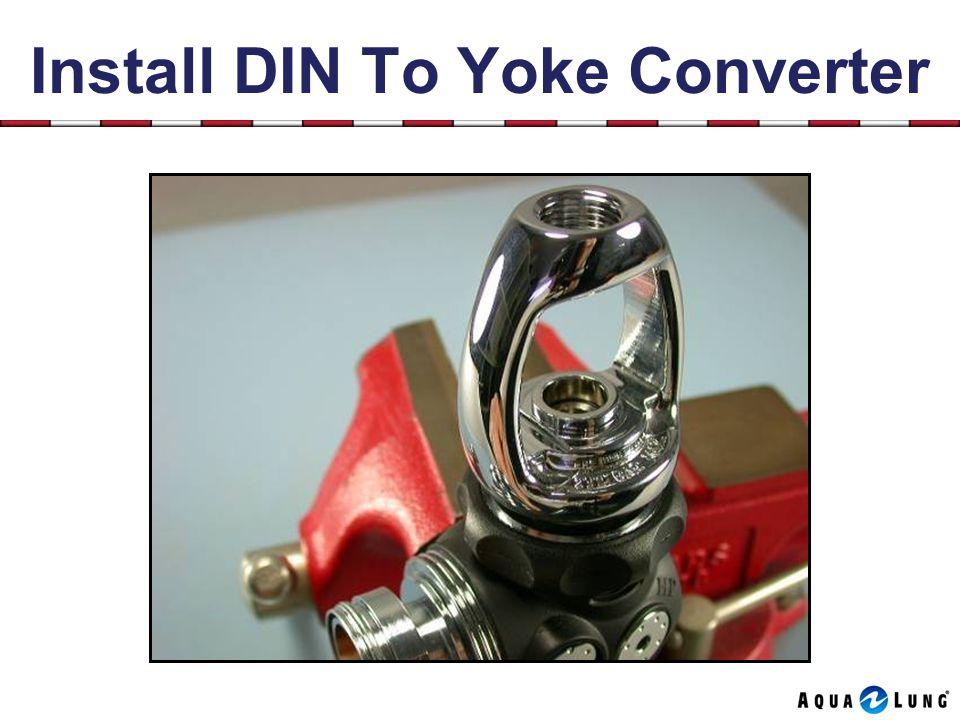 Install DIN To Yoke Converter
