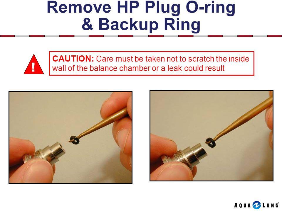 Remove HP Plug O-ring & Backup Ring .