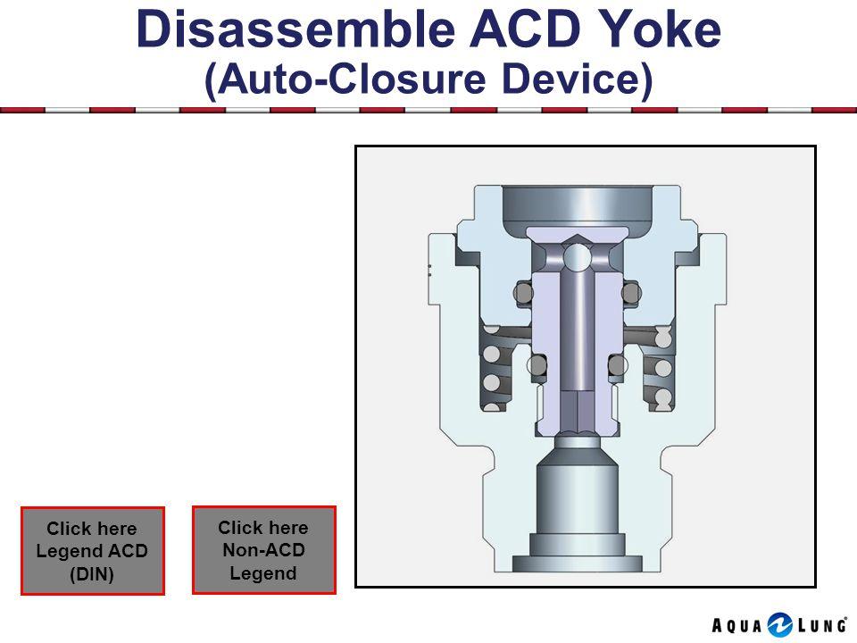 Disassemble ACD Yoke (Auto-Closure Device) Click here Non-ACD Legend Click here Legend ACD (DIN)