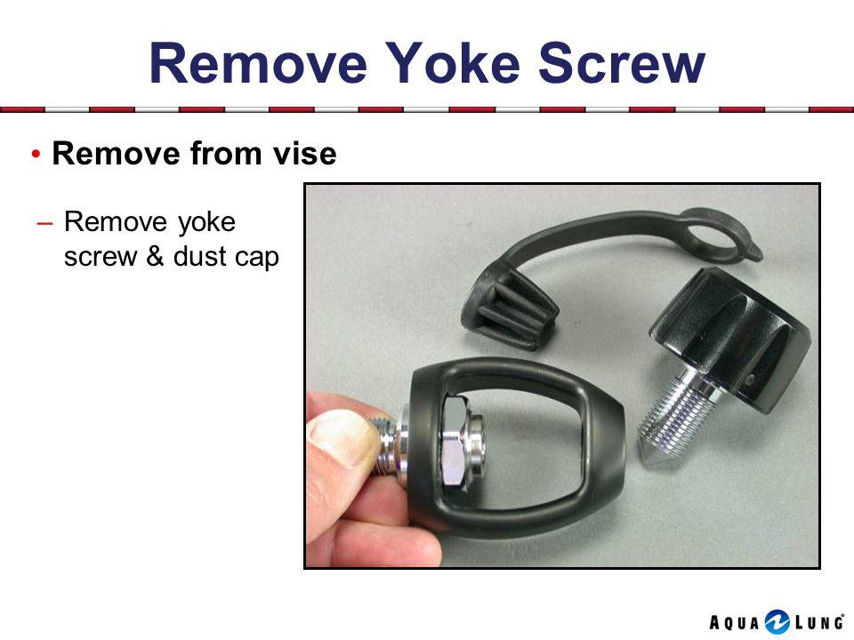 Remove Yoke Screw Remove from vise –Remove yoke screw & dust cap