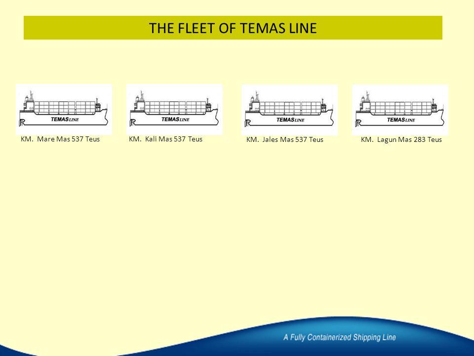 KM. Mare Mas 537 TeusKM. Kali Mas 537 Teus KM. Jales Mas 537 TeusKM. Lagun Mas 283 Teus THE FLEET OF TEMAS LINE