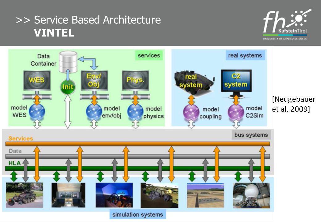 8 >> Service Based Architecture VINTEL [Neugebauer et al. 2009]