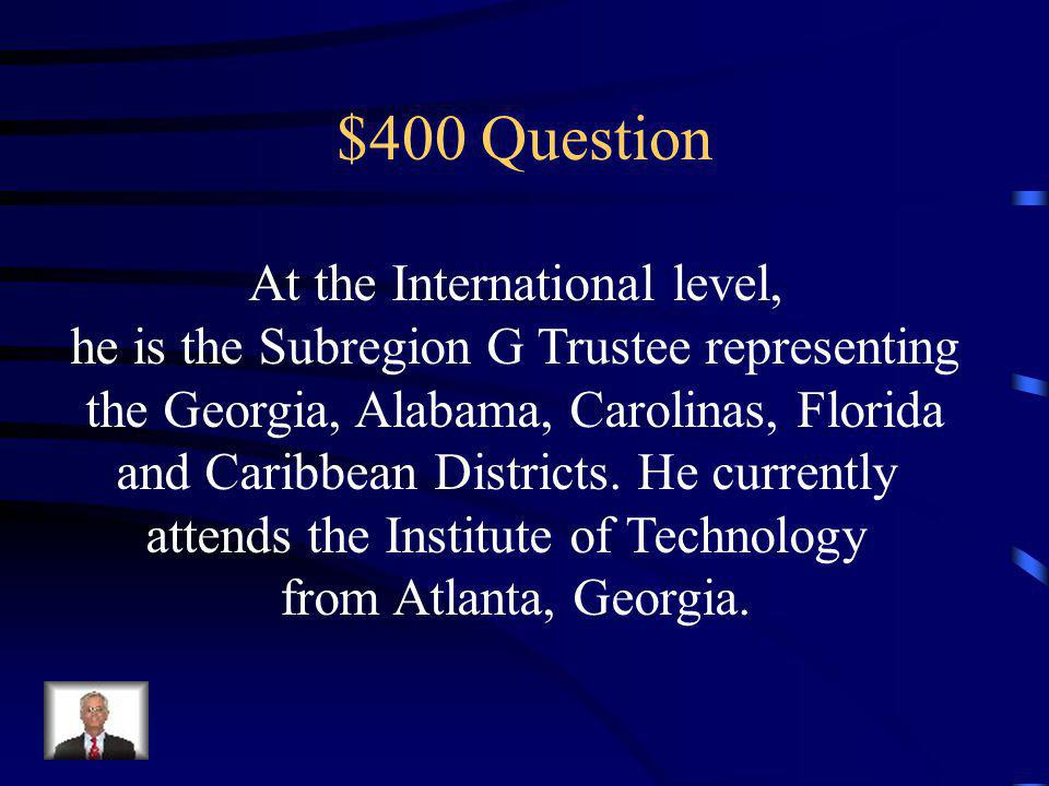 $400 Question Publishes the club newsletter and is responsible for promoting the club on campus.