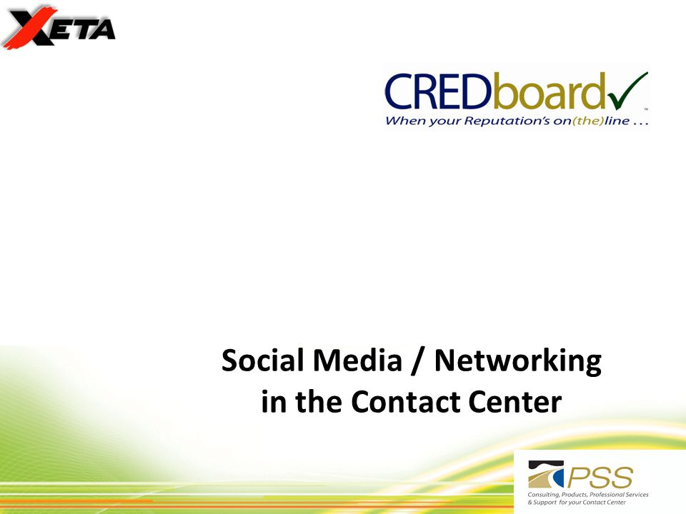 Social Media / Networking in the Contact Center Rev 202010