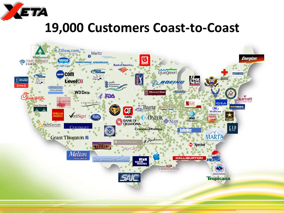 19,000 Customers Coast-to-Coast