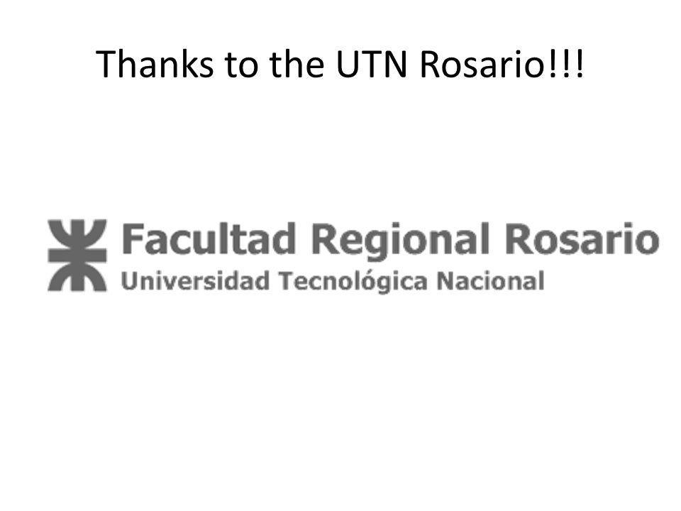 Thanks to the UTN Rosario!!!