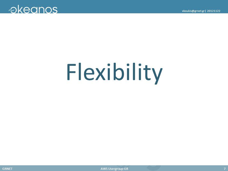 GRNETAWS Usergroup GR7 vkoukis@grnet.gr| 20121122 Flexibility