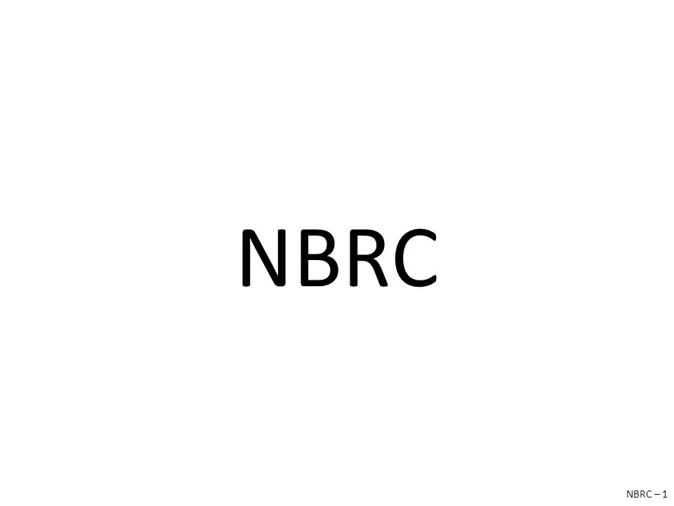 NBRC NBRC – 1
