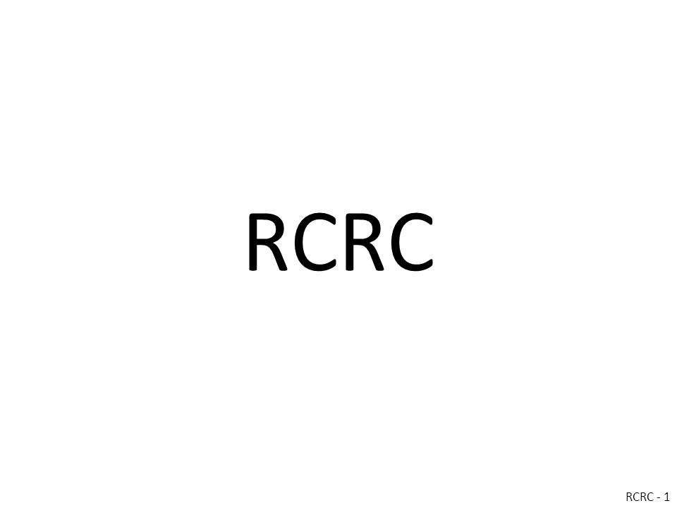 RCRC RCRC - 1