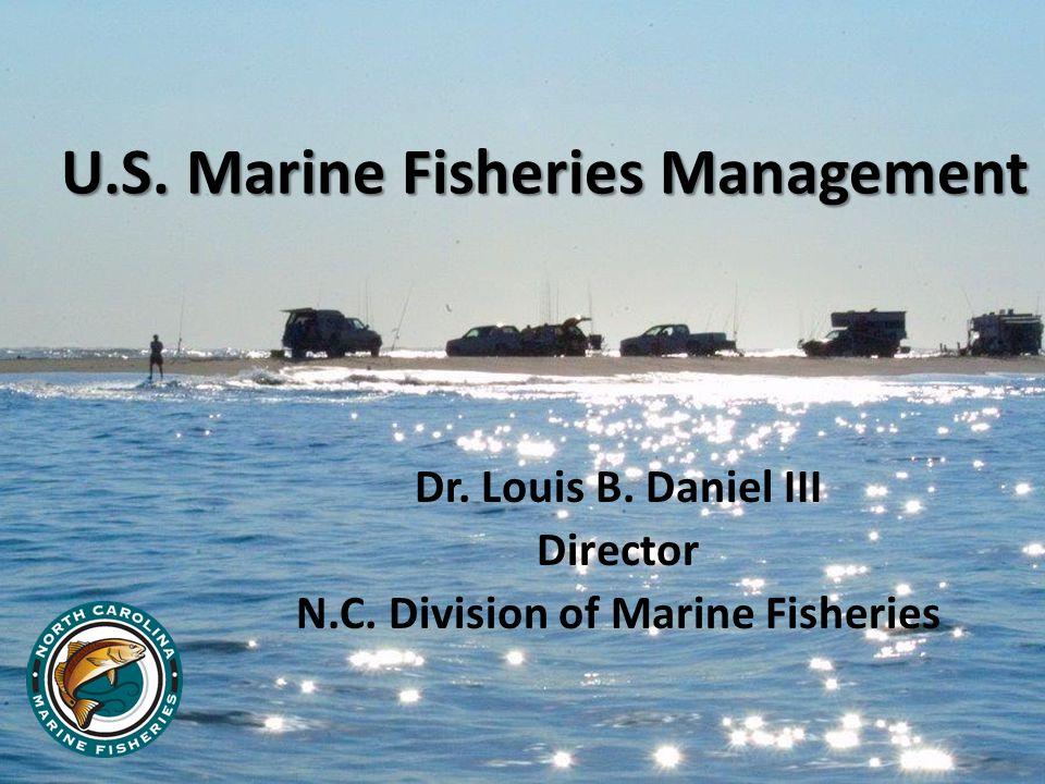 U.S. Marine Fisheries Management Dr. Louis B. Daniel III Director N.C. Division of Marine Fisheries