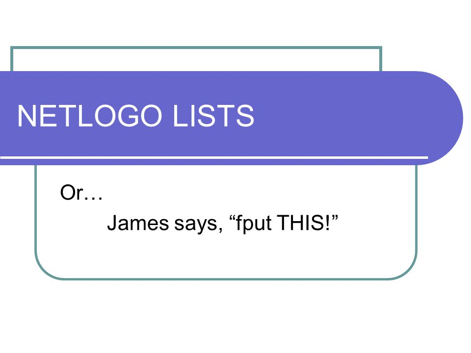 What are LISTS.