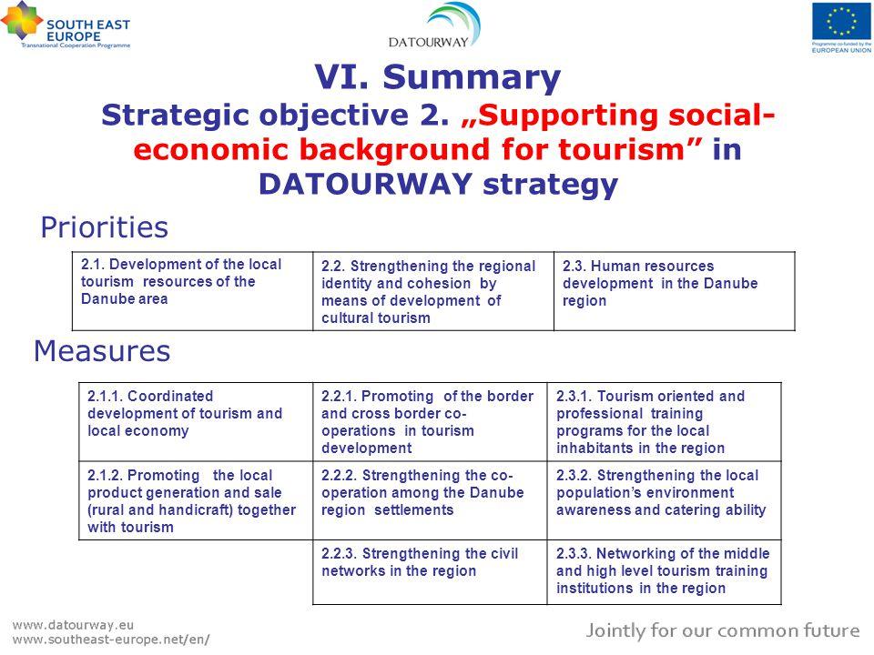 VI. Summary Strategic objective 2.