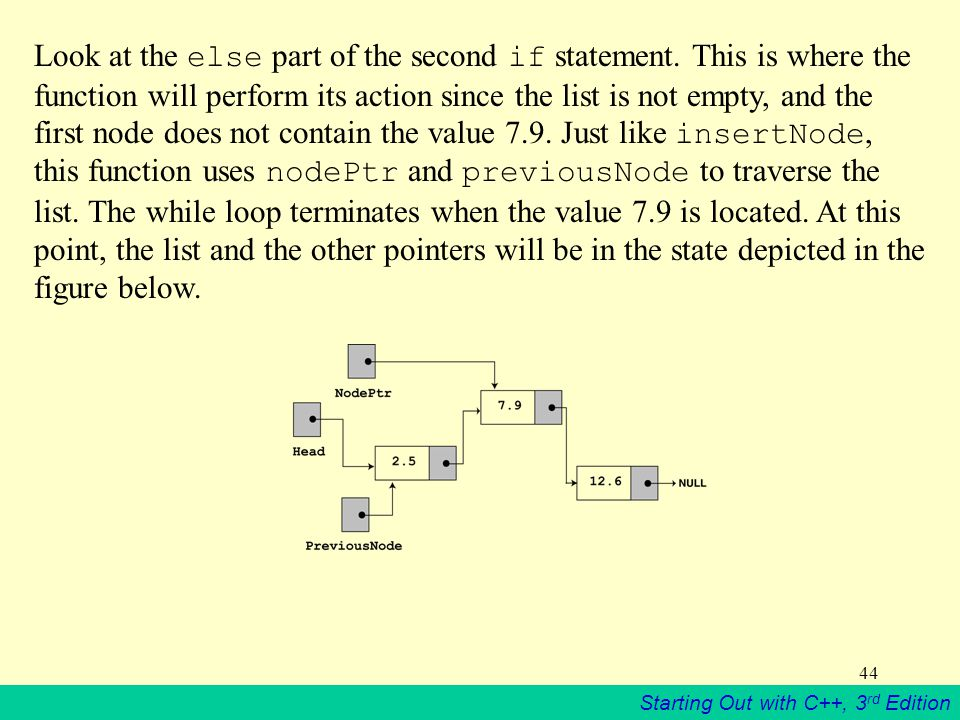 Starting Out with C++, 3 rd Edition 44 Look at the else part of the second if statement. This is where the function will perform its action since the