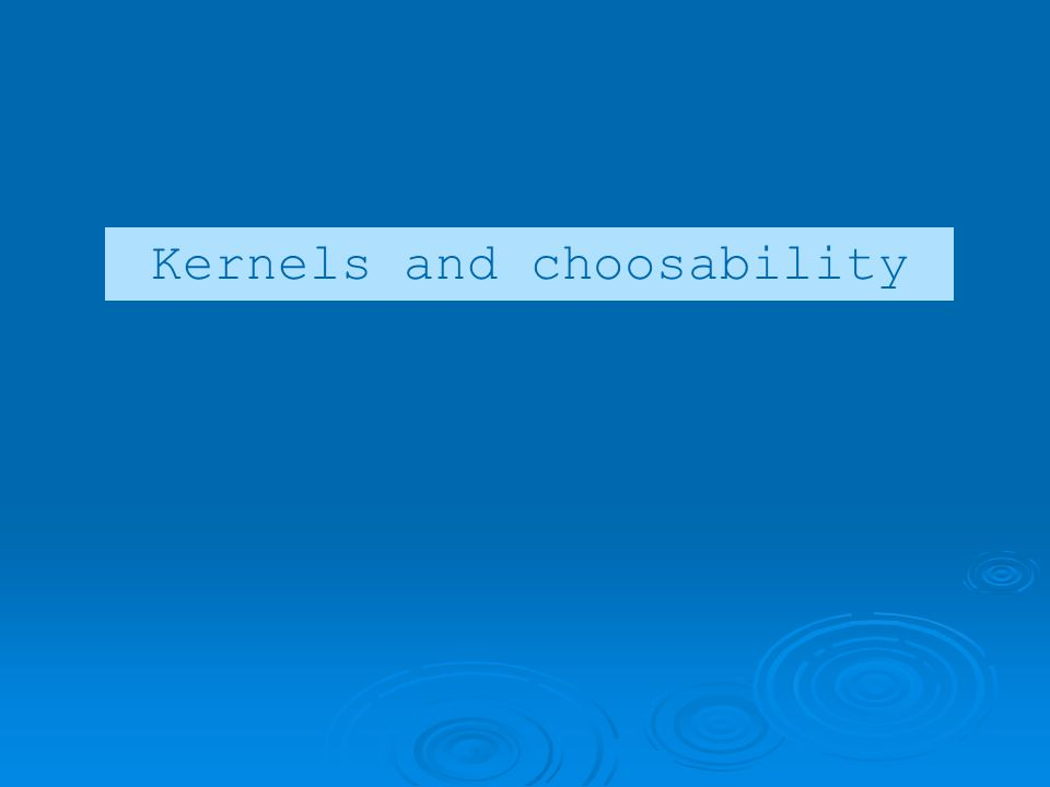 Kernels and choosability