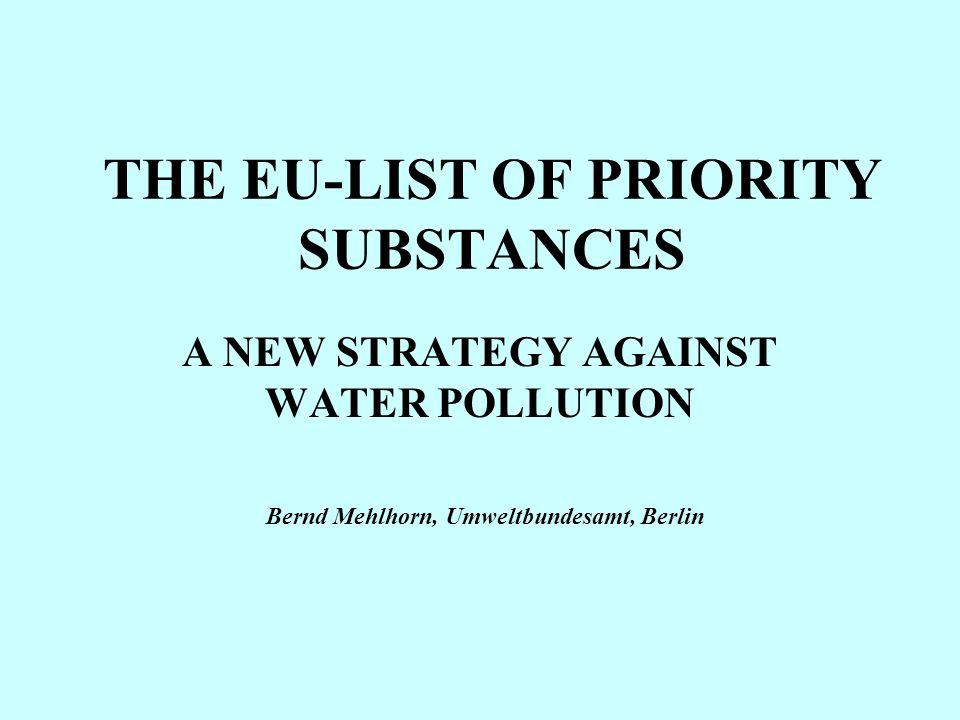 Decision establishing the list of priority substances (No.