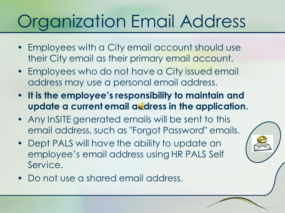 Personal Information Personal information is displayed for A Employee Note: You will receive an email if an employee that reports directly to you changes their phone number or primary contact address.