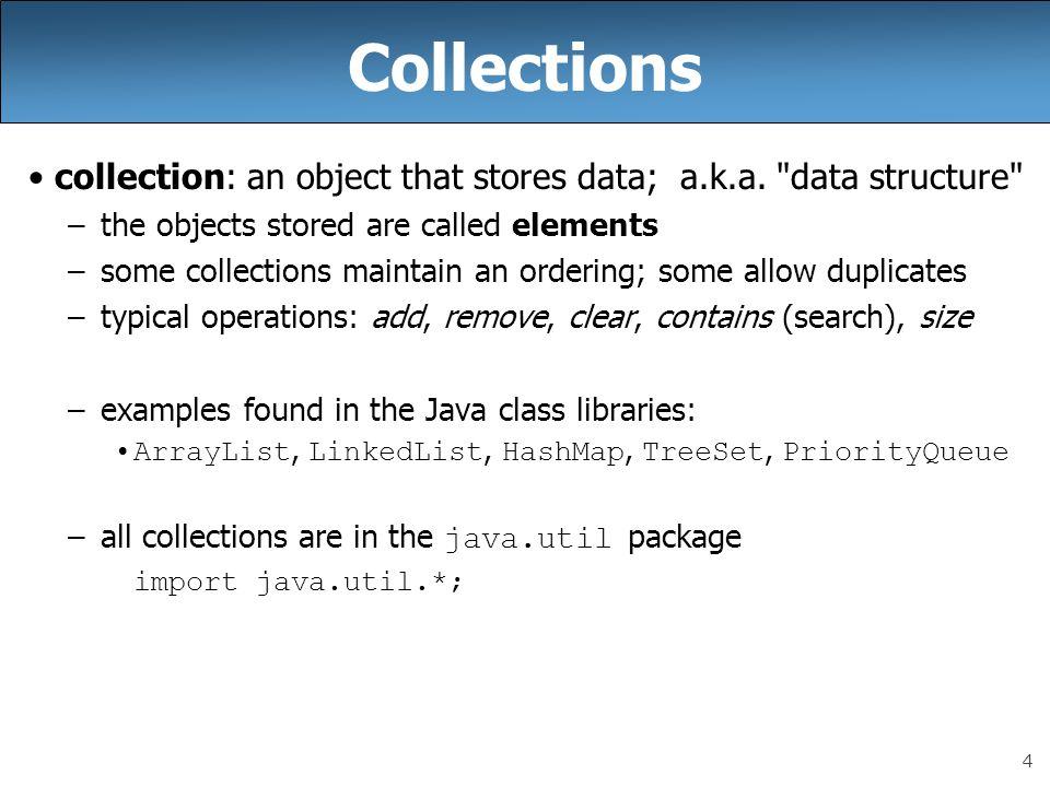 5 Java collections framework