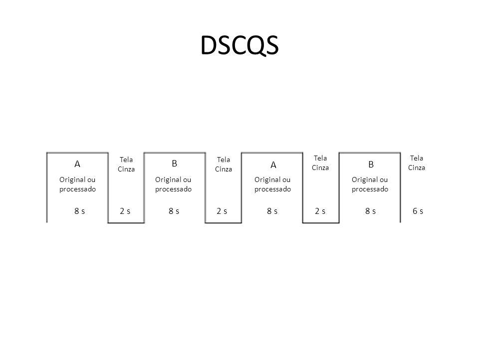 DSCQS A Original ou processado Tela Cinza A B A B 8 s2 s8 s2 s8 s2 s8 s6 s