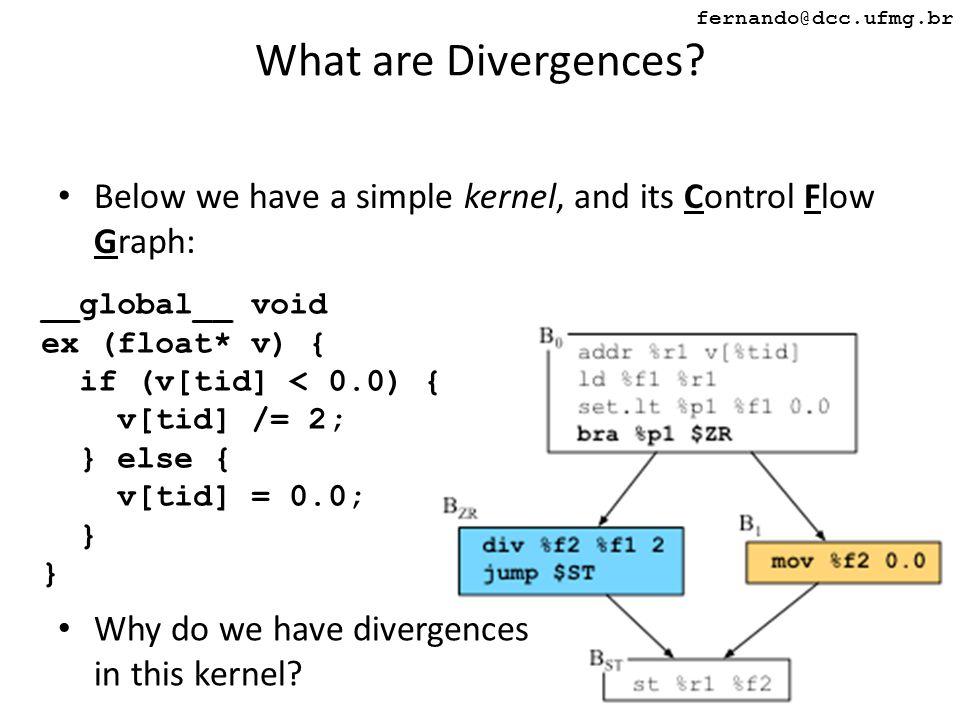 λλ fernando@dcc.ufmg.br What are Divergences.