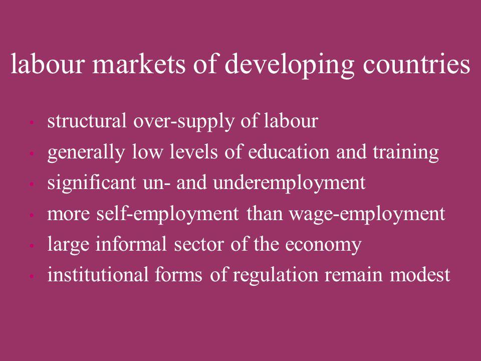 factors affecting labour markets affecting the demand side: –economic/financial crises –changes in economic structure –technological change (ICT!) pro