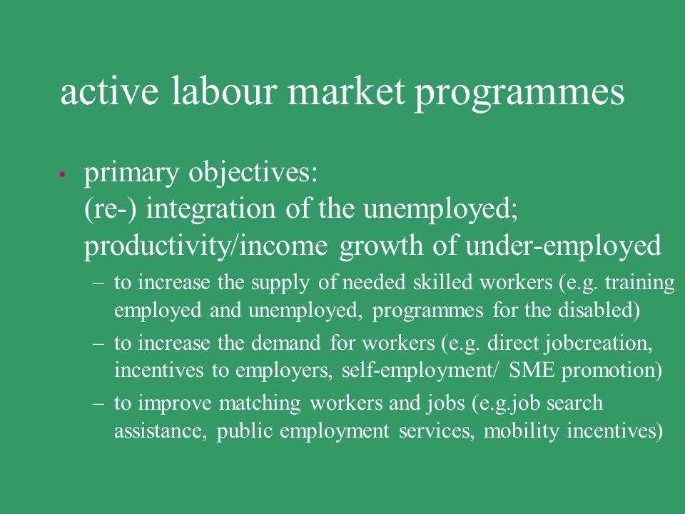 labour market policies use e.g. social protection