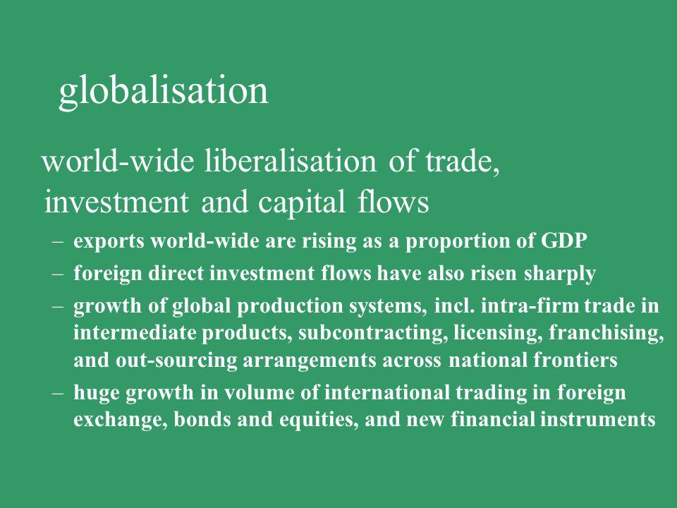 increasing competitiveness more flexible production systems labour market flexibilisation structural change privatisation globalisation