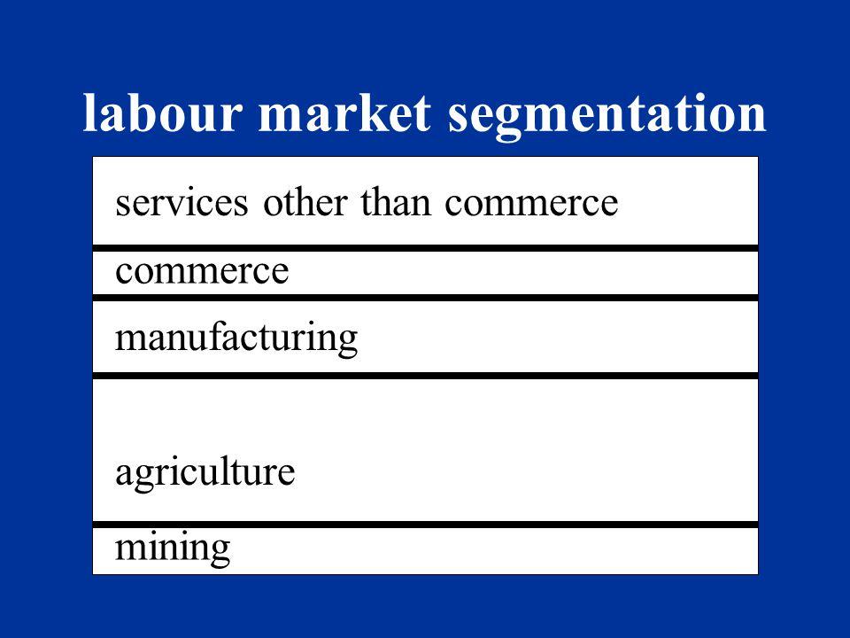 labour market segmentation northeastsouthwest
