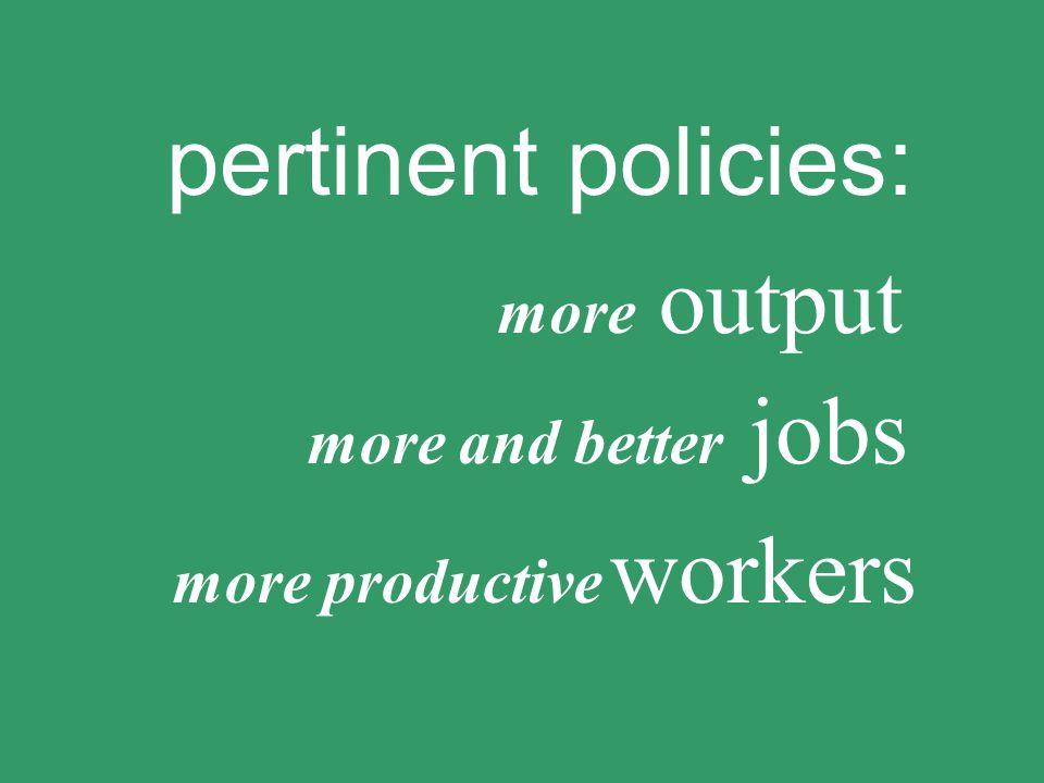 O =+ O E E increasing productive employment for women and men