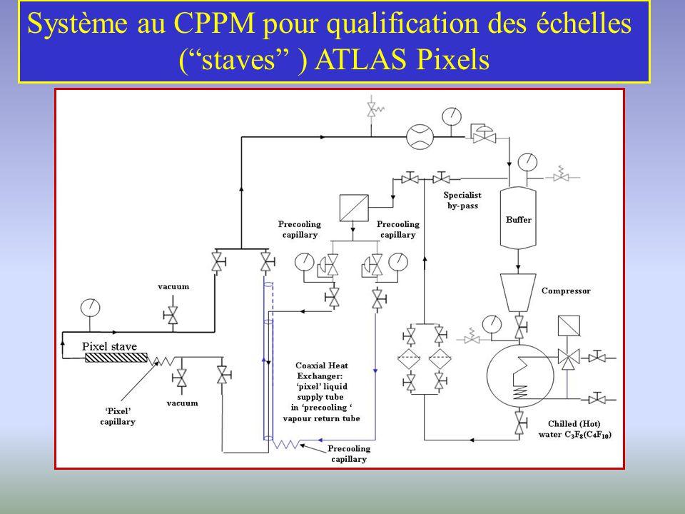 Système au CPPM pour qualification des échelles (staves ) ATLAS Pixels