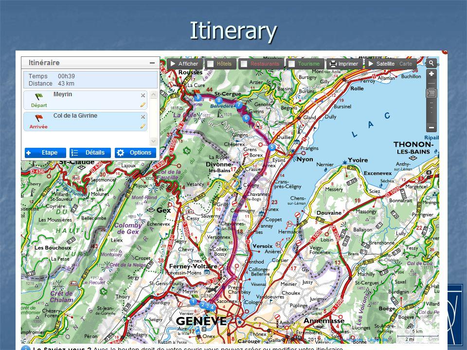 14-Jan-11francois.vasey@cern.ch17 Itinerary