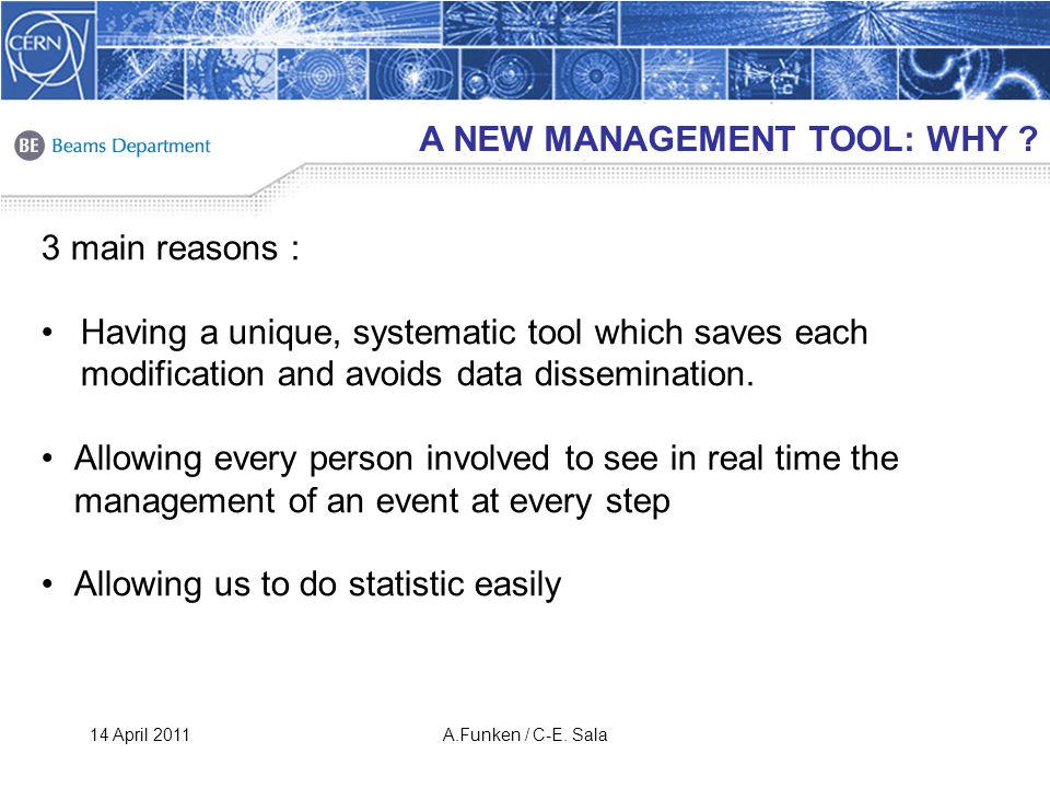 A NEW MANAGEMENT TOOL: WHY .