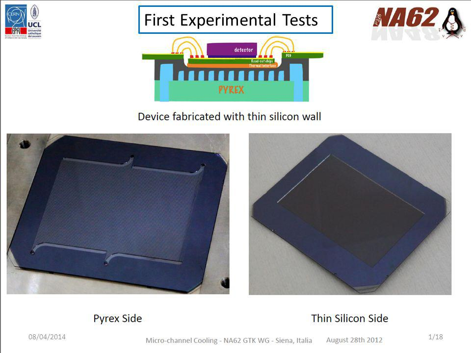 First Experimental Tests 08/04/20141/18