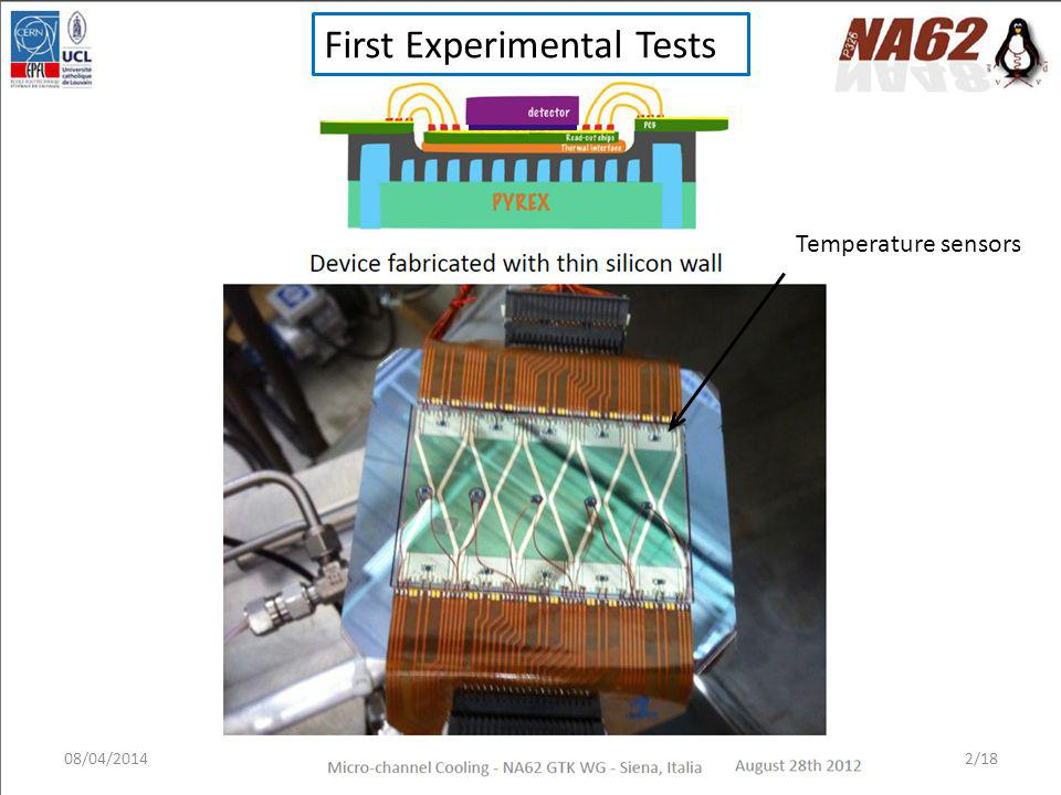 First Experimental Tests Temperature sensors 08/04/20142/18
