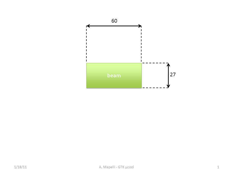 60 beam 27 1/18/11A. Mapelli - GTK µcool1